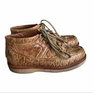 Genuine Alligator Skin Western Shoes